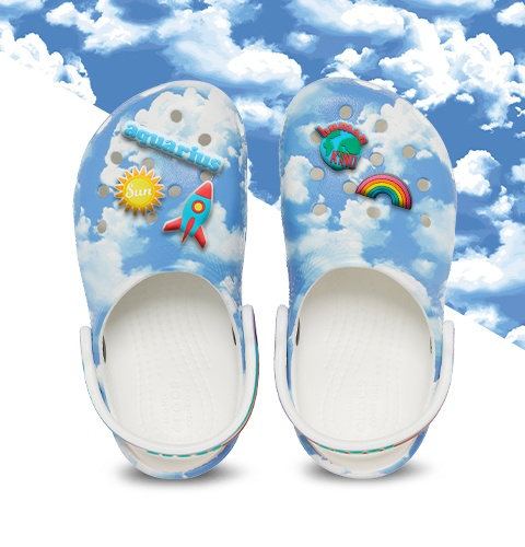 Marble Tie Dye Classic Clog.