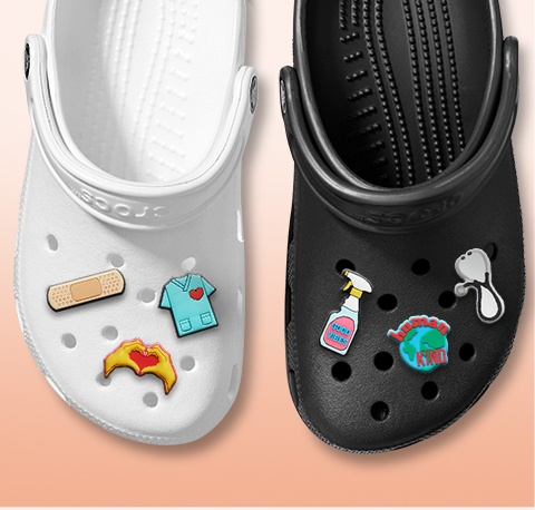 Claasic Clogs with medical Jibbitz.