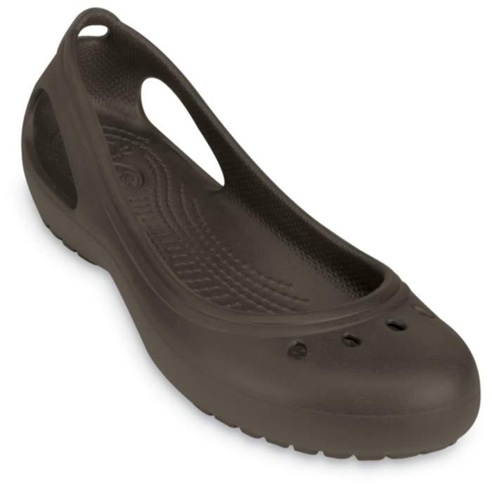 Crocs Kadee Women Flat Dark Brown