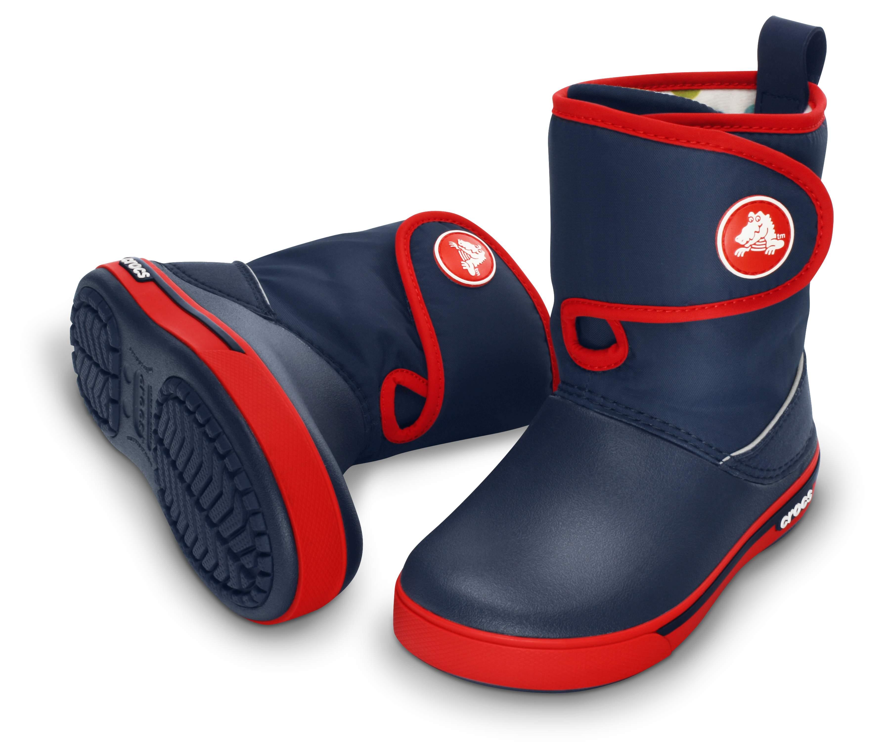 【クロックス公式】 クロックバンド 2.5 ガストブーツ キッズ Kids' Crocband II.5 Gust Boot ユニセックス、キッズ、子供用、男の子、女の子、男女兼用 ブルー/青 15.5cm,17.5cm,18cm,18.5cm,19cm,19.5cm,20cm,21cm boot ブーツ