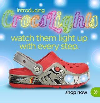 boys' crocslights cars clog
