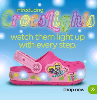 girls' crocslights butterfly clog