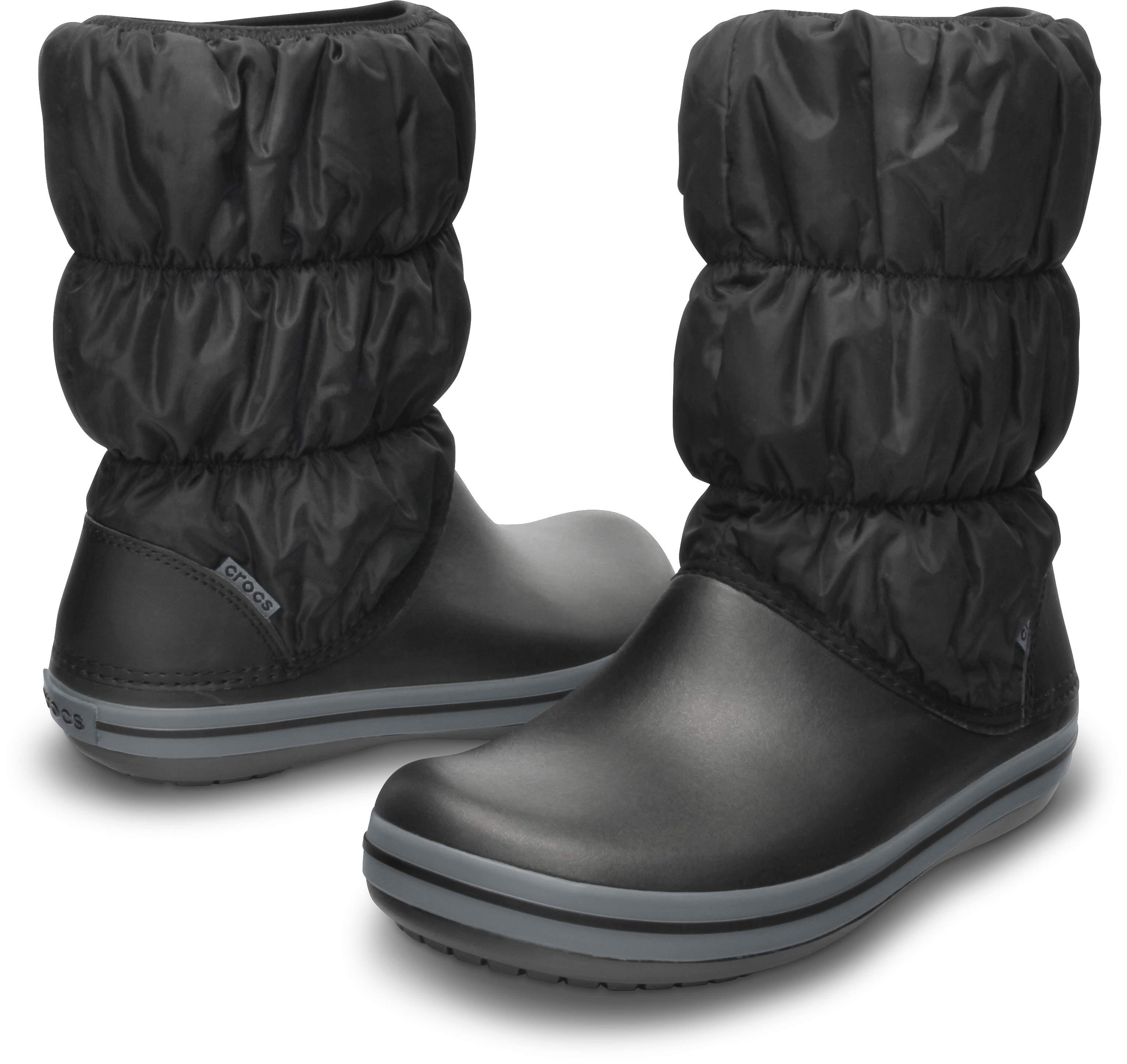 【クロックス公式】 ウィンター パフブーツ ウィメン Women's Winter Puff Boot ウィメンズ、レディース、女性用 ブラック/黒 22cm,23cm,24cm,25cm,26cm boot ブーツ 20%OFF