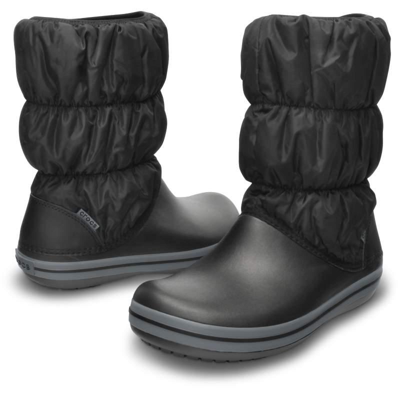 【クロックス公式】 ウィンター パフブーツ ウィメン Women's Winter Puff Boot ウィメンズ、レディース、女性用 ブラック/黒 22cm,23cm,24cm,25cm,26cm boot ブーツ