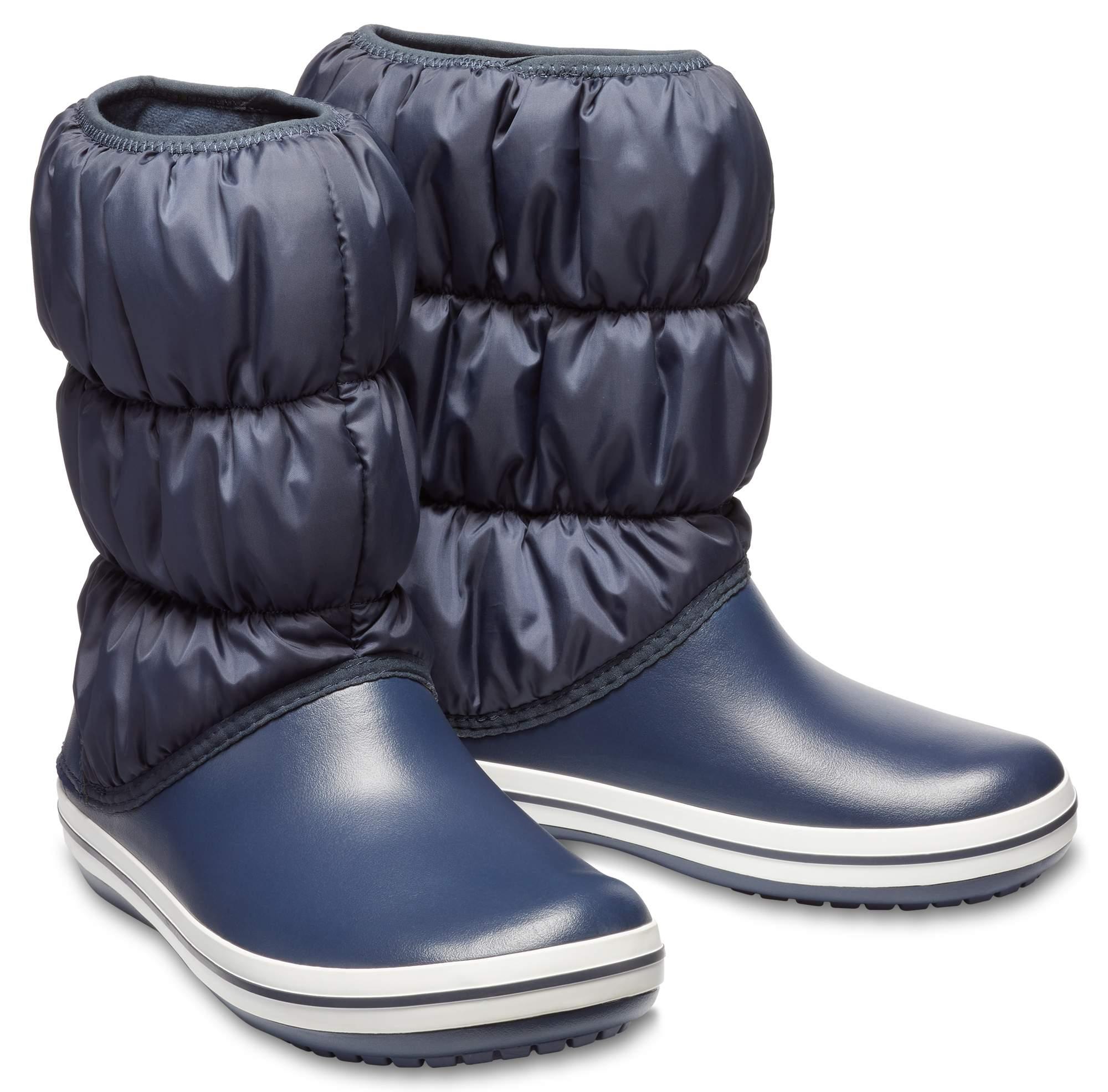 【クロックス公式】 ウィンター パフブーツ ウィメン Women's Winter Puff Boot ウィメンズ、レディース、女性用 ブルー/青 22cm,23cm,24cm,25cm,26cm boot ブーツ