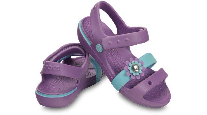Crocs Keeley Petal Charm Juniors Sandal Ebay