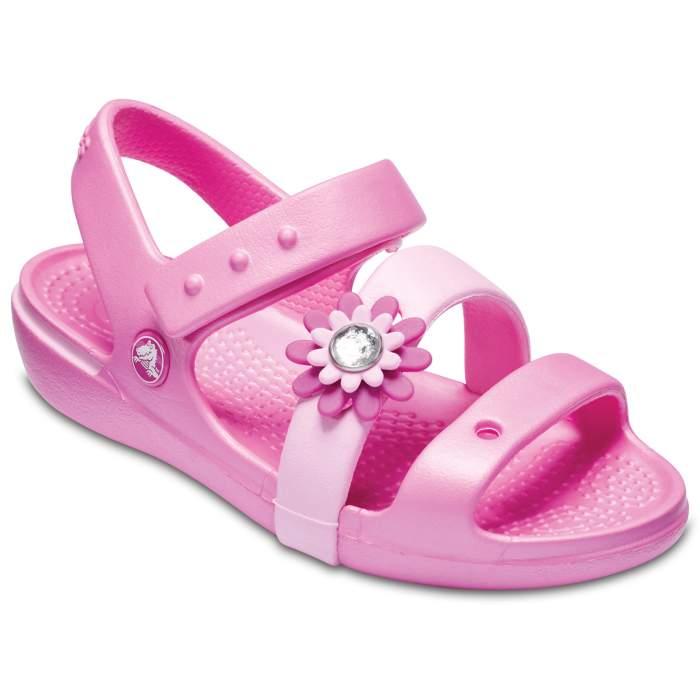 Crocs Girls' Keeley Petal Charm Sandal (children's) Pink