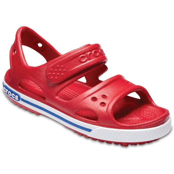 Crocs Kids' Crocband II Sandal Pepper/Blue Jean