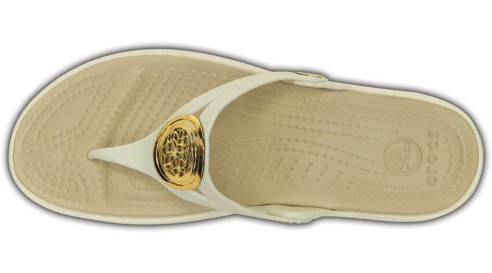Crocs Womens Sanrah Circle Wedge Flip Flop