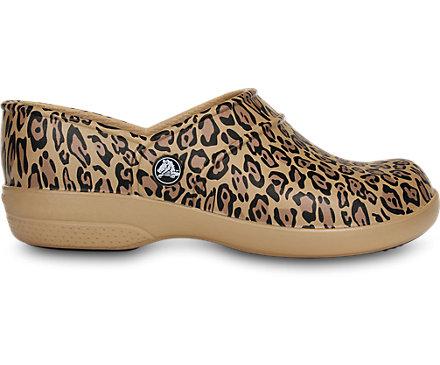 Crocs Womens Neria Work Leopard Clog