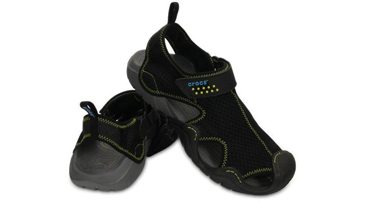【クロックス公式】 スウィフトウォーター サンダル Men's Swiftwater Sandal メンズ、紳士、男性用 ブラック/黒 25cm,26cm,27cm,28cm,29cm sandal サンダル