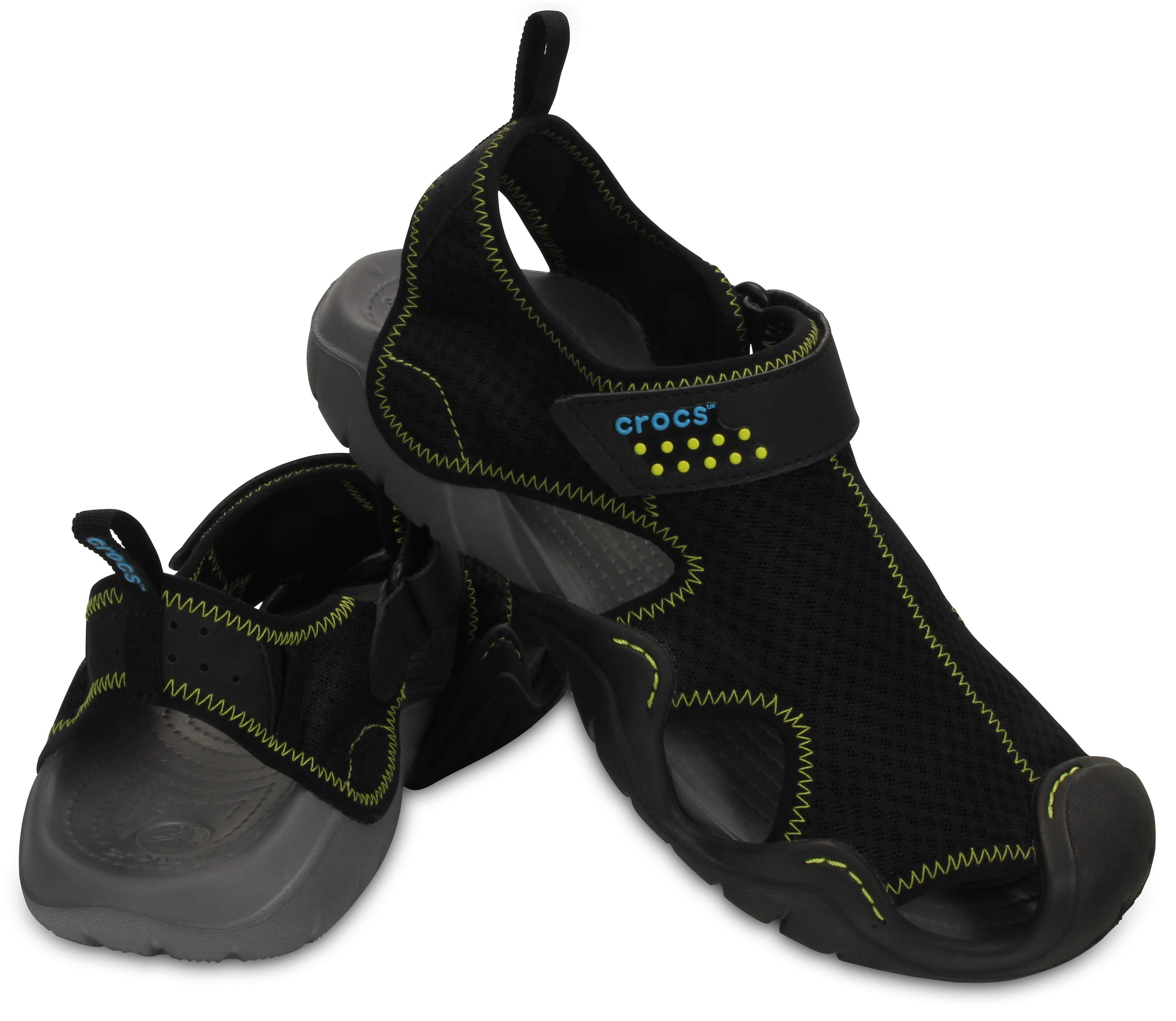 【クロックス公式】 スウィフトウォーター サンダル Men's Swiftwater Sandal メンズ、紳士、男性用 ブラック/黒 25cm,27cm,28cm,29cm sandal サンダル 30%OFF