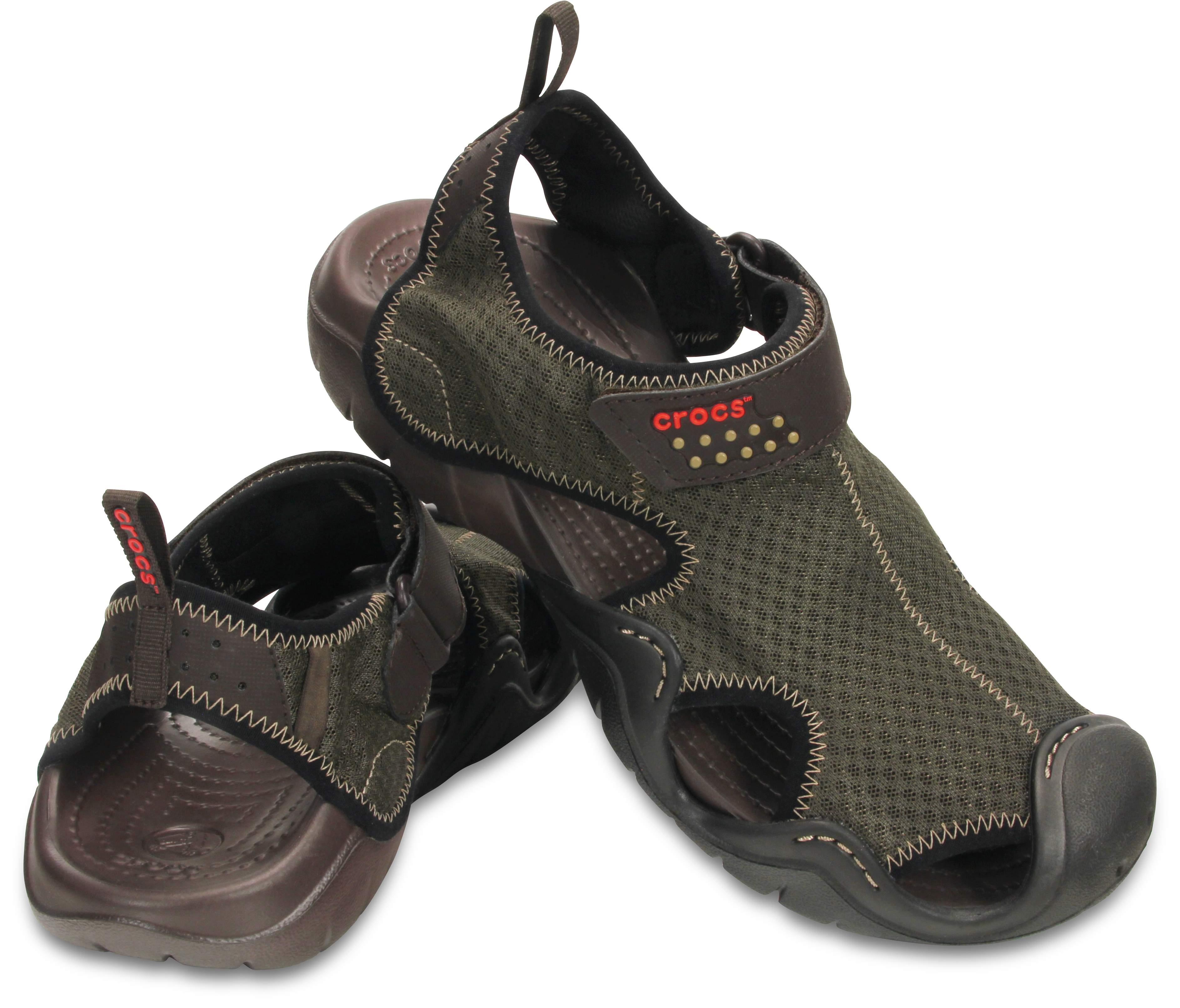 【クロックス公式】 スウィフトウォーター サンダル Men's Swiftwater Sandal メンズ、紳士、男性用 ブラウン/茶 25cm,26cm,27cm,28cm,29cm sandal サンダル 30%OFF