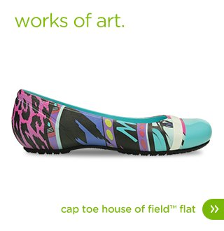 Women's House of Field Cap Toe Flat