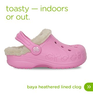 Kids' Baya Heathered Fuzz Lined Clog