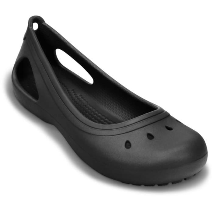 Crocs Girls' Kadee Flat Black