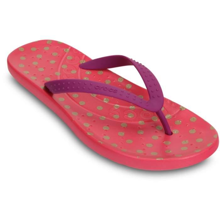 Crocs Women's Chawaii Graphic Flip Purple