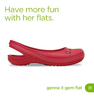 Have more fun with her flats. Genna II Gem Flat