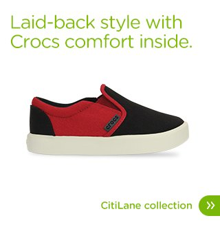 Laid-back style with Crocs comfort inside. CitiLane collection.