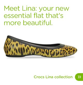 Meet Lina: your new essential flat that's more beautiful. Crocs Lina Collection.