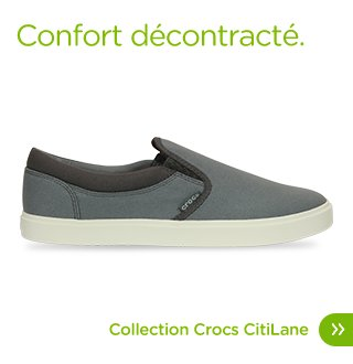 Confort décontracté. Collection Crocs CitiLane
