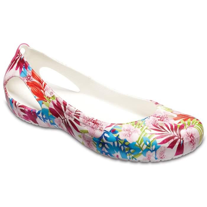 Crocs Women's Kadee Graphic Flat Tropical/White