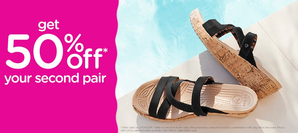 c78668c10 Get 50% Off Your Second Pair At Crocs UK