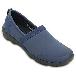 Crocs Womens Duet Busy Day 2.0 Satya A-line Shoes - Bijou Blue / Smoke Graphite