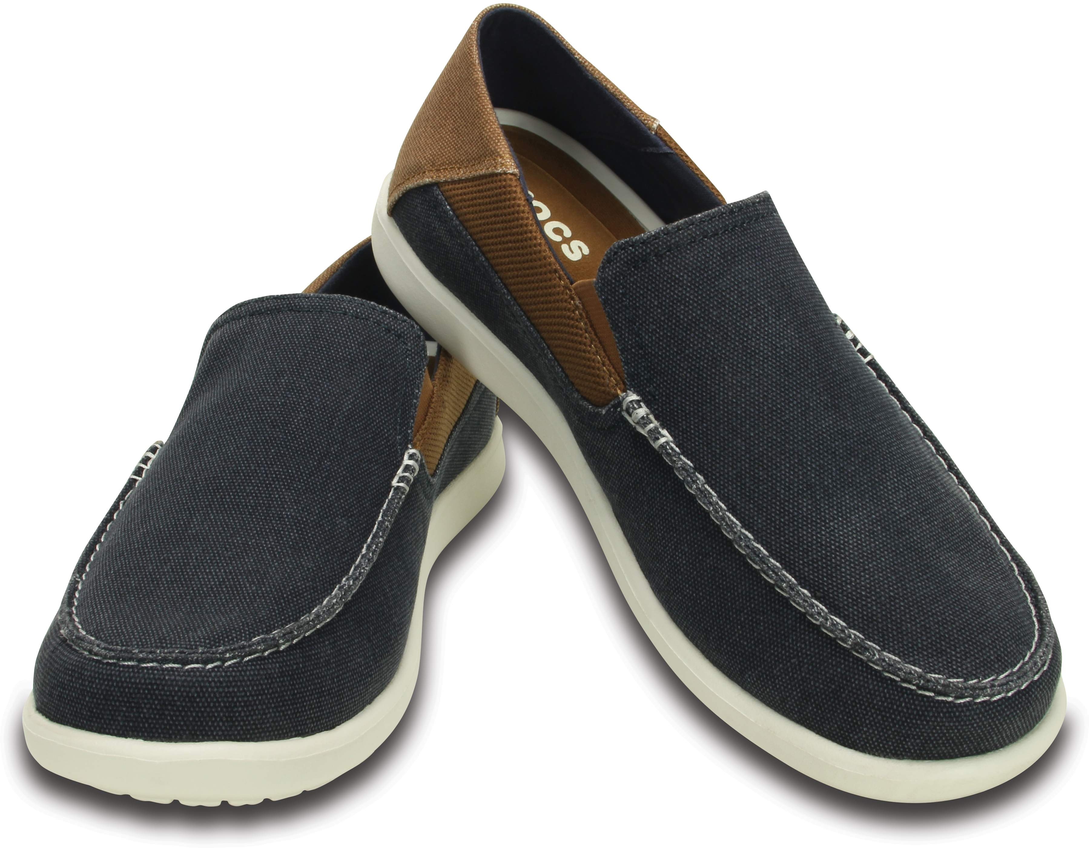 Crocs Men's Santa Cruz 2 Luxe Loafer Navy / Hazelnut 202056-4R9
