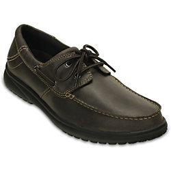 Crocs Mens Shaw Boat Shoes - Espresso Black / Hazelnut Stucco