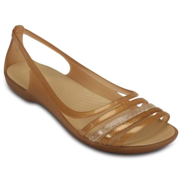 Crocs Women's Crocs Isabella Huarache Flat Brown