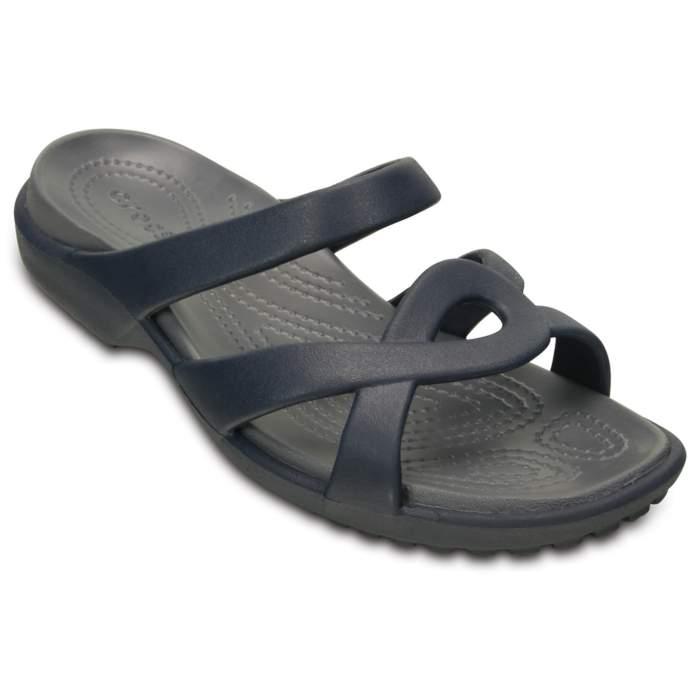 Crocs Women's Meleen Twist Sandal Navy / Storm