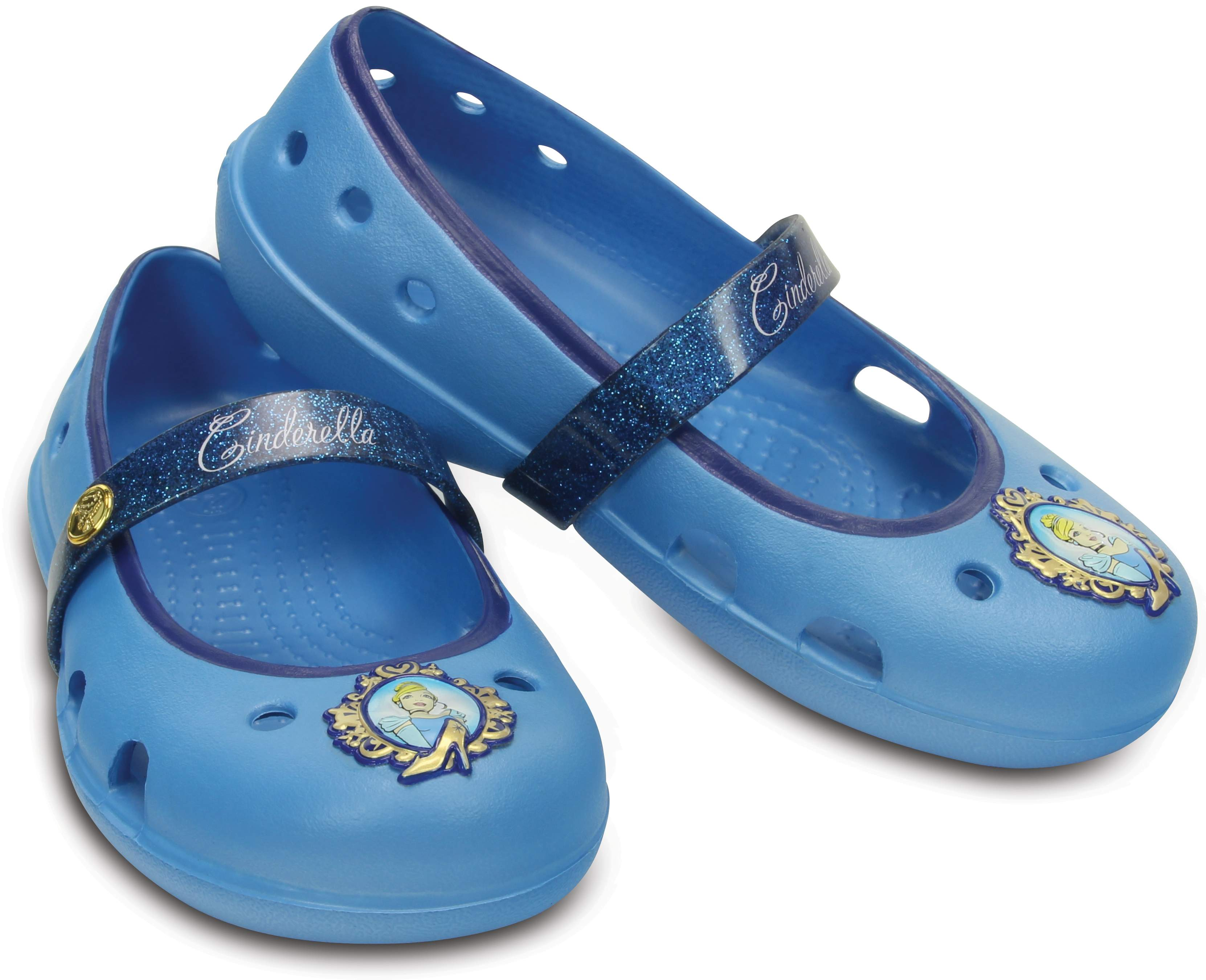 Crocs Kids' Keeley Disney Princess Flat Bluebell 202697-4BN