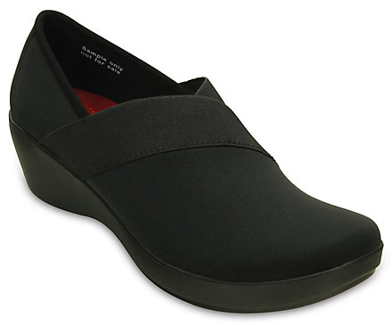 Crocs Womens Busy Day Stretch Asymmetrical Wedge