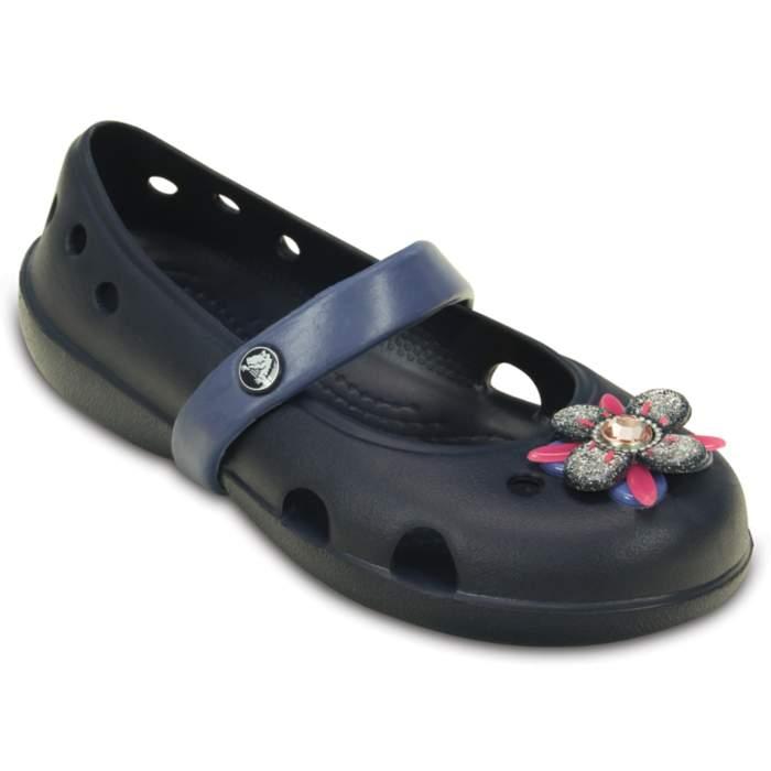 Crocs Kids' Keeley Springtime Flat (children's) Blue