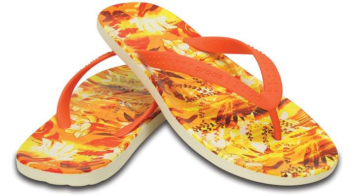 【クロックス公式】 チャワイ トロピカル 2.0 フリップ Chawaii Tropical II Flip ユニセックス、メンズ、レディース、男女兼用 オレンジ/オレンジ 22cm flip ビーチサンダル フリップサンダル ビーサン 20%OFF