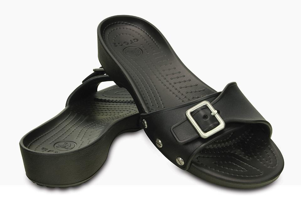 Sarah Sandal Women S Slide Sandals With Buckles Crocs