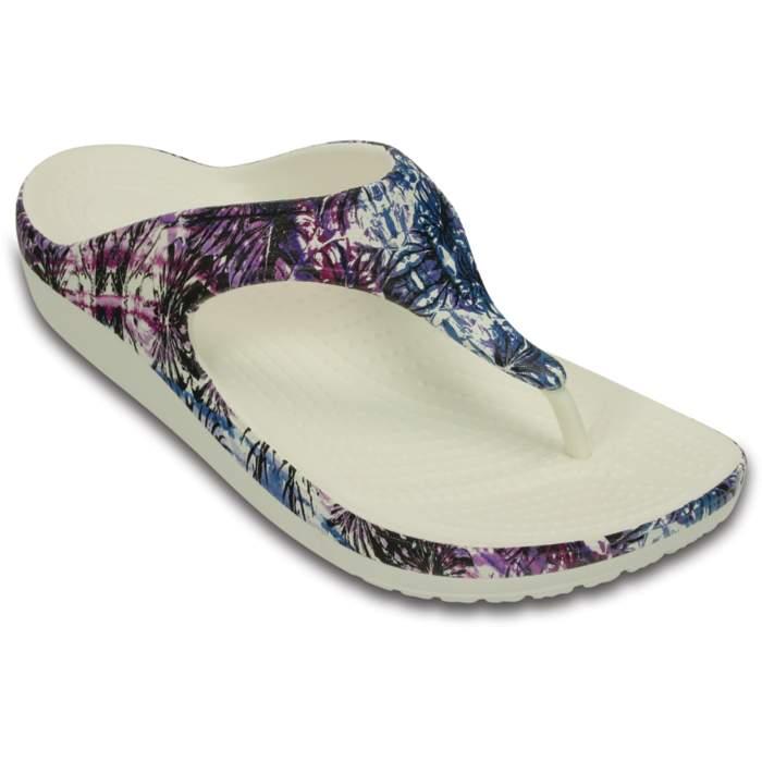 Crocs Women's Crocs Sloane Soft Floral Flip White