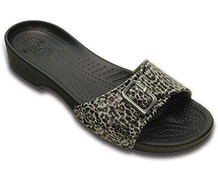 Women's Crocs Sarah Leopard Sandal