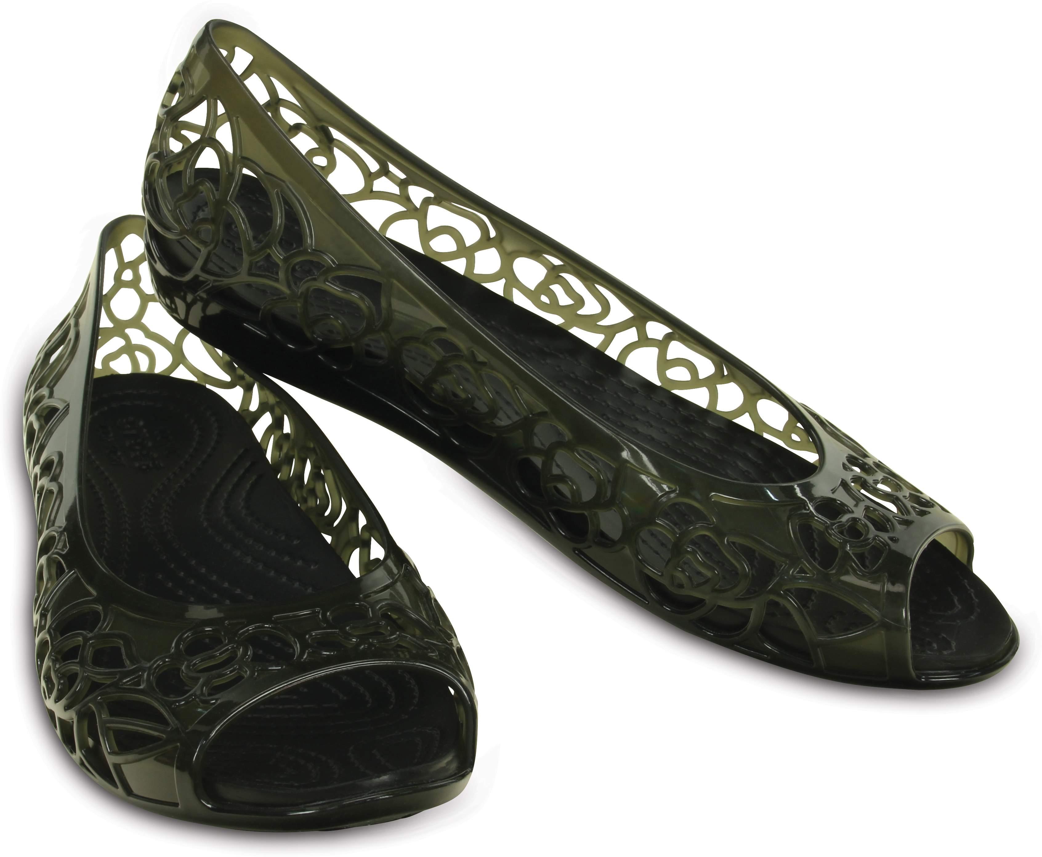 【クロックス公式】 クロックス イザベラ ジェリー フラットウィメン Women's Crocs Isabella Jelly Flat ウィメンズ、レディース、女性用 ブラック/黒 21cm,22cm,23cm,24cm flat フラットシューズ バレエシューズ ぺたんこシューズ