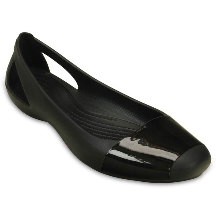 Crocs Women's Crocs Sienna Shiny Flat Black