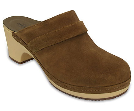 Crocs Womens Sarah Suede Clogs