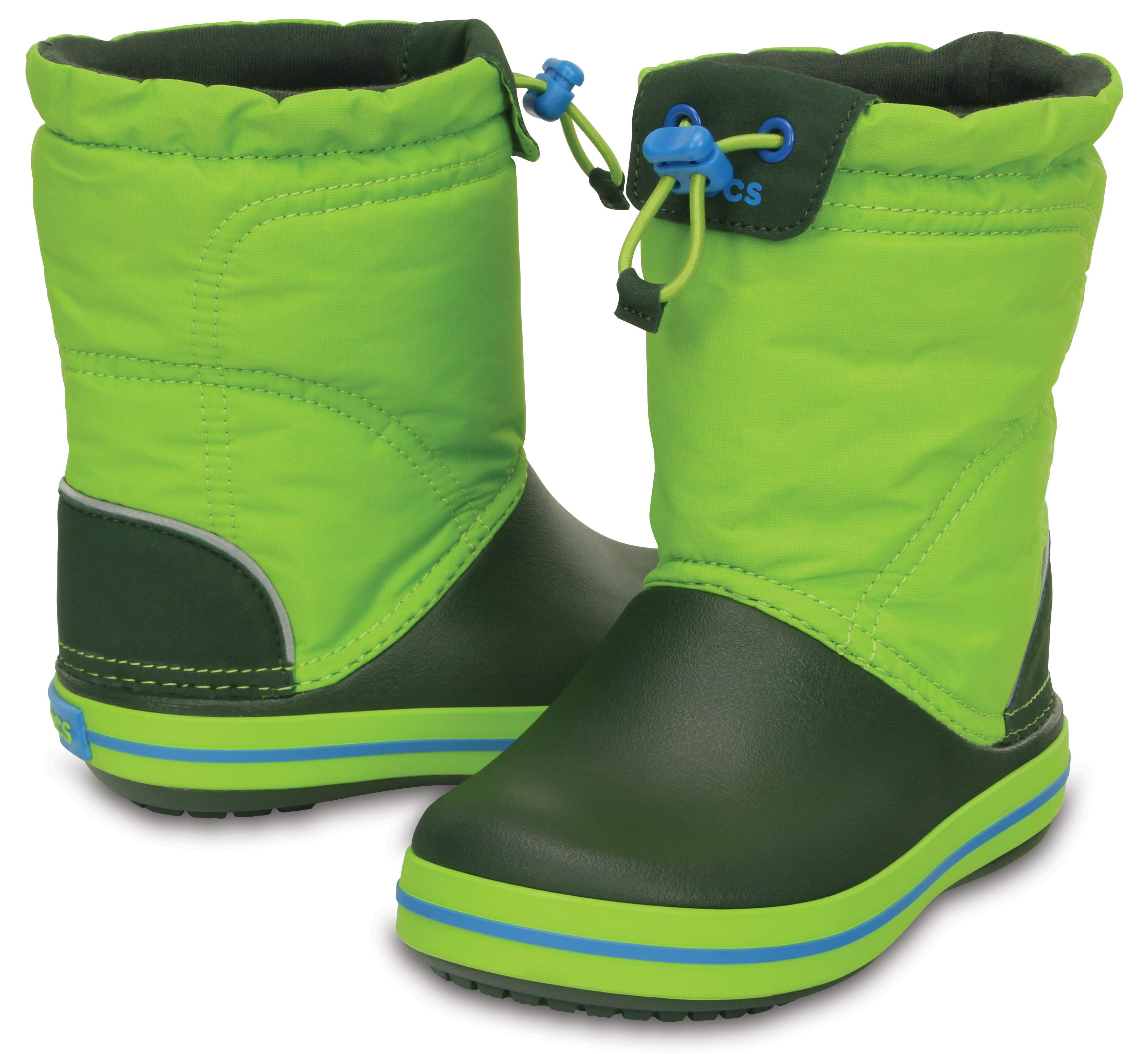 Crocs Kids' Crocband LodgePoint Boot Lime / Forest Green 203509-33T