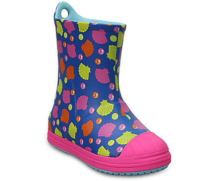 Crocs Kids Bump It Rain Boots (Blue or Pink)