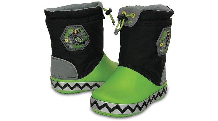 クロックス 公式オンラインショップ【クロックス公式】 クロックスライツ ロッジポイント ロボザウルス crocslights lodgepoint robosaur ユニセックス、キッズ、子供用、男の子、女の子、男女兼用 ブラック/黒 17.5cm boot ブーツ