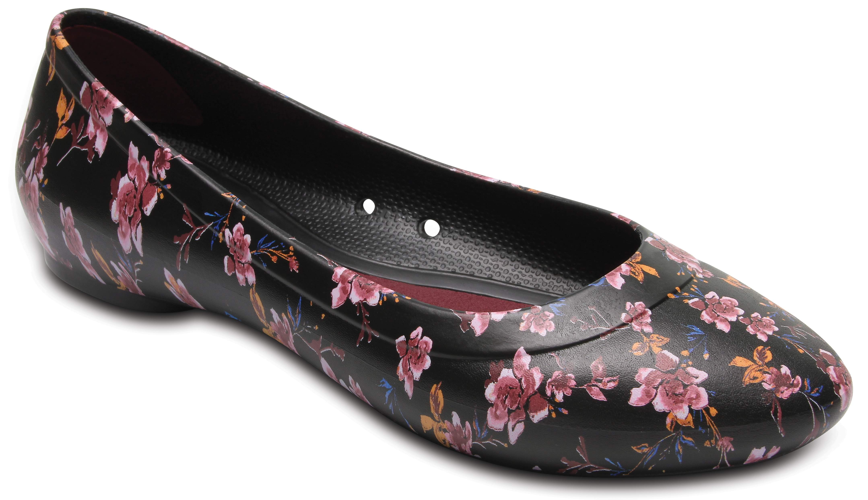 Women's Crocs Lina Graphic Flat