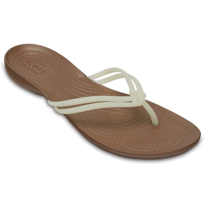 Crocs Women's Crocs Isabella Flip White / Bronze