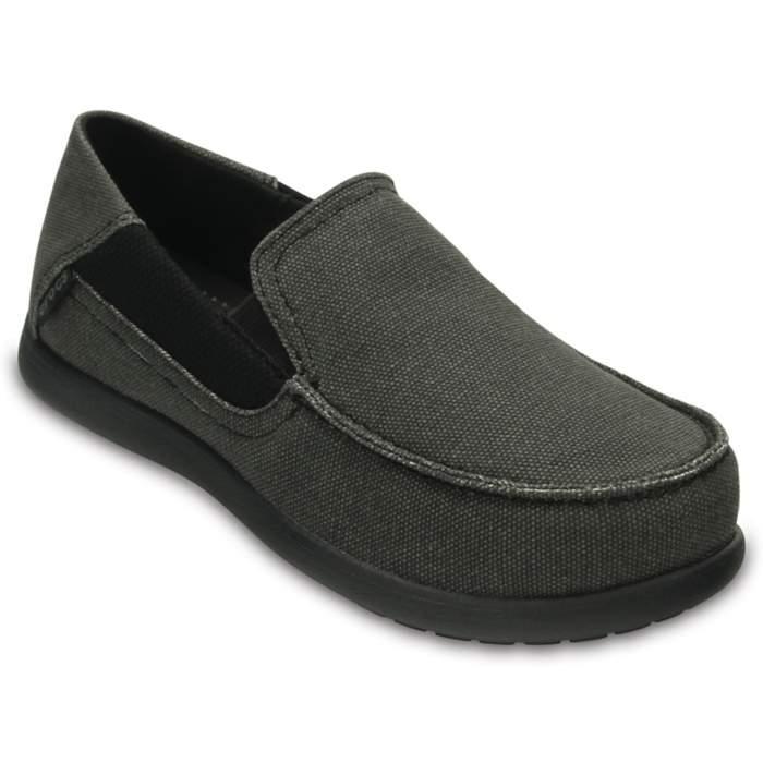 Crocs Kids' Santa Cruz II Loafers Black