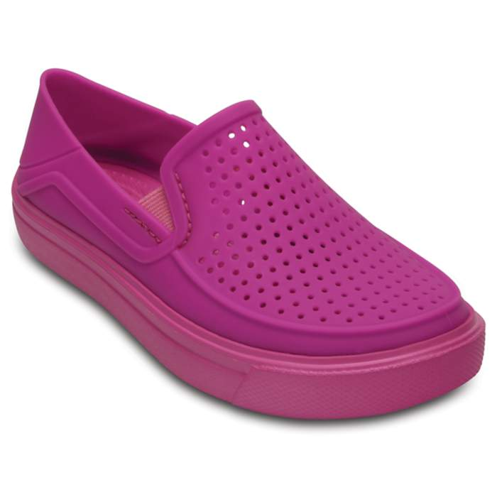 Crocs Kids' CitiLane Roka Slip-On Vibrant Violet