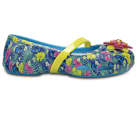 35fbf0658bb3a3 Kids  Crocs Lina Graphic Flats